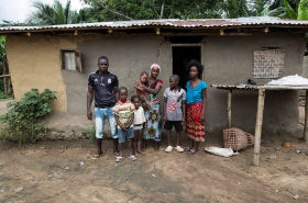 village in Liberia recovers