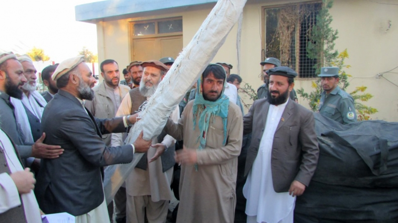 delivery of supplies after Afghanistan earthquake
