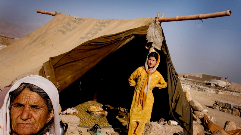 Extreme weather, including harsh winters, aggravate the already difficult living conditions in these refugee camps