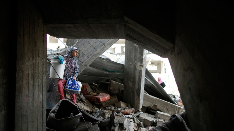 Homes destroyed in Gaza copyright Mohammed Salem Reuters