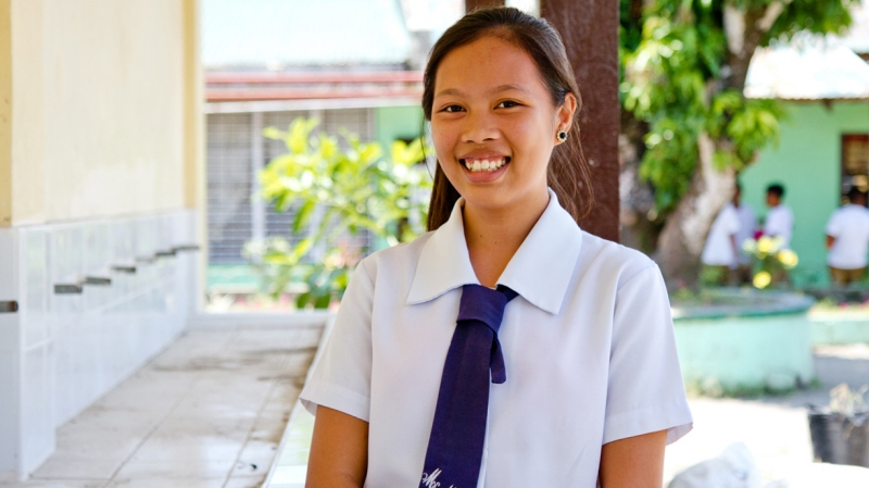 Kate is a hygiene champion protecting her fellow students from water borne diseases in the aftermath of Typhoon Haiyan.