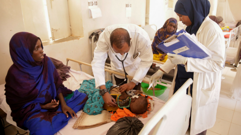 Galkayo Hospital serves roughly 200 people per day in all departments.