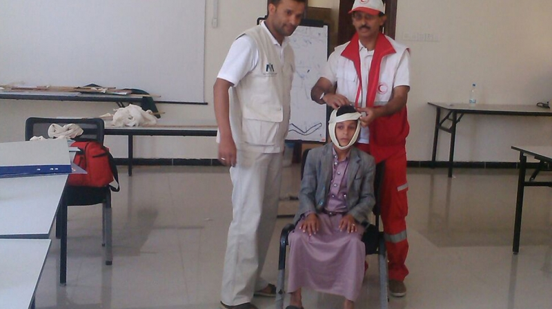 training session with red cross in Yemen