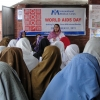 A community education session on HIV and Aids prevention in Pakistan