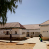 The hospital includes a 54-bed stabilization center supported by International Medical Corps.