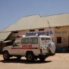 This ambulance transports critically ill patients to Galkayo Hospital.