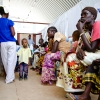 Patients await registration at the reproductive health clinic in Juba.