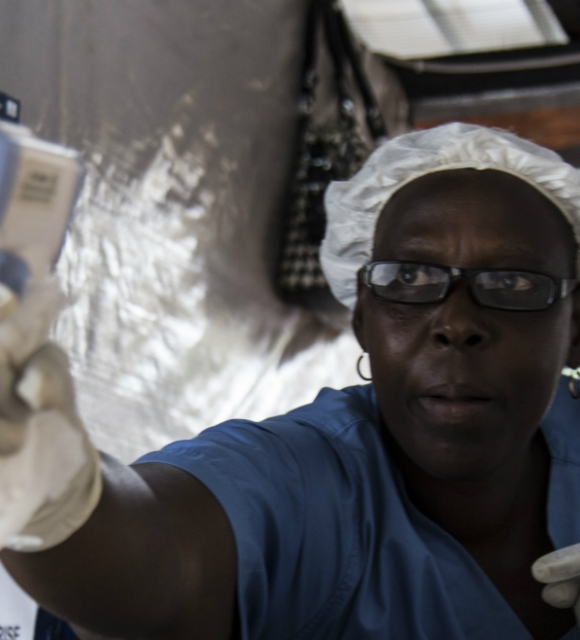 ebola fighters banner