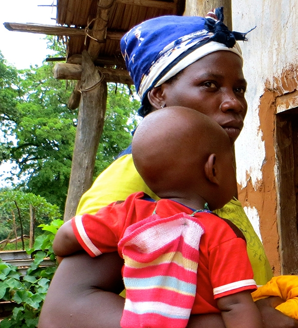 central african republic family and babies Bria tile