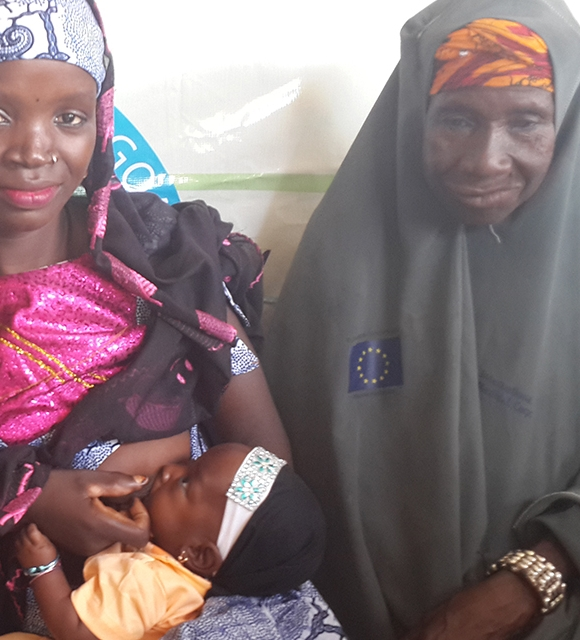 Lifesaving grandma Hajia in Nigeria tile